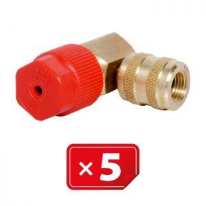 Adaptateur Retrofit  90° 3/16 SAE haute pression 5 pcs