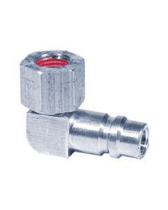 Adaptateur 90º avec obus de valves Basse pression