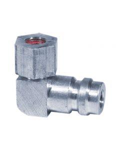 Adaptateur 90º avec obus de valves haute pression
