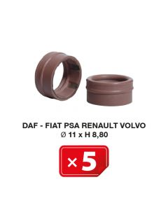Joint Spécial Daf-Fiat-PSA-Renault-Volvo Ø 11 x H 8,80 (lot de 5 pcs)