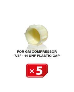 """Bouchons plastiques pour Compresseur GM 7/8""""-14 UNF  (lot de 5 pcs.)"""
