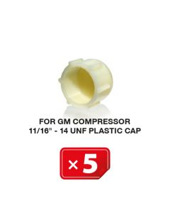 """Bouchons plastiques pour Compresseur GM 11/16""""-14 UNF  (lot de 5 pcs.)"""