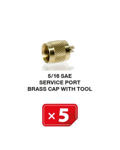 Bouchon de valve de service en laiton avec embout 5/16 SAE (lot de 5 pcs)
