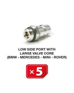 R-134a Valve de service Basse Pression mécanisme valve avec diamètre large (BMW-Mercedes-Mini-Rover) (lot de 5 pcs.)