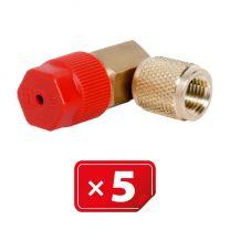 Adaptateur Retrofit  90°1/4 SAE haute pression - cuivre 5 pcs