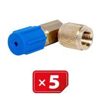 Adaptateur Retrofit  90°1/4 SAE basse pression - cuivre